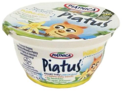 Piątnica, Piątuś waniliowy, jogurt grecki dla dzieci po zmianie składu, copyright Olga Kublik