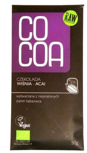 SuroVital, Cocoa Czekolada wiśnia - acai, wegańska surowa czekolada, raw food, copyright Olga Kublik