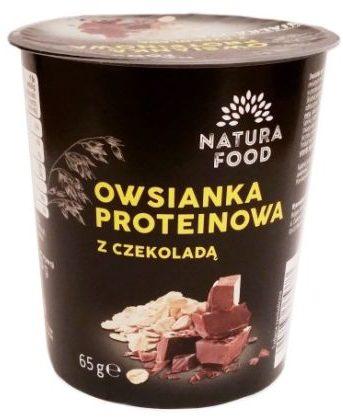 Bruggen, Natura Food Owsianka proteinowa z czekoladą, deser z płatkami owsianymi z Biedronki, copyright Olga Kublik