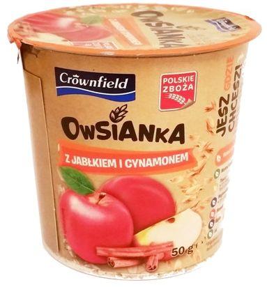 Crownfield, Owsianka z jablkiem i cynamonem, deser owsiany z Lidla, copyright Olga Kublik