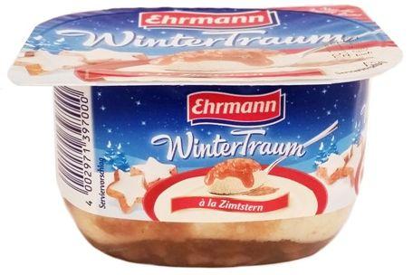 Ehrmann, WinterTraum a la Zimtstern, deser mleczny aero z sosem o smaku korzennych ciasteczek, copyright Olga Kublik