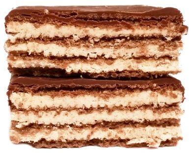 IDC Polonia, Lusette smak Cappuccino, baton z polewą kakaową i kremem o smaku napoju kawowego, kruche wafle, copyright Olga Kublik