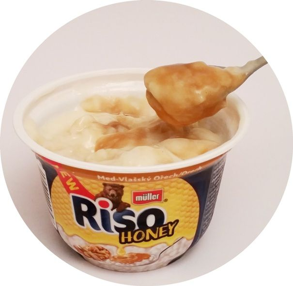 Muller, Riso Honey Miód - orzech włoski, ryż na mleku z sosem, copyright Olga Kublik