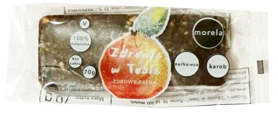 Zdrowie w Tobie, Zdrowy baton morela, nerkowce, karob, wegański raw bar, copyright Olga Kublik
