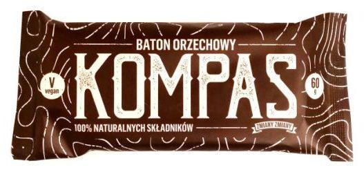 Zmiany Zmiany, Kompas, wegański surowy baton bez glutenu i cukru, raw bar z orzechami i daktylami, copyright Olga Kublik