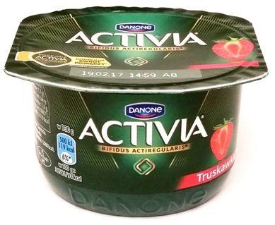 Danone, Activia Truskawka, zdrowy jogurt z błonnikiem, copyright Olga Kublik
