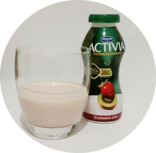 Danone, jogurt pitny Activia Truskawka Kiwi, copyright Olga Kublik