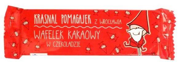 Magnolia, Krasnal Pomagajek z Wrocławia Wafelek kakaowy w czekoladzie, copyright Olga Kublik