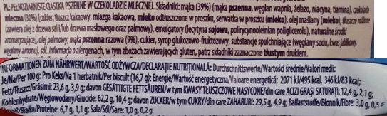 McVities, Digestive 2 Milk Chocolate Wheatmeal Biscuits, zbożowe herbatniki z mleczną czekoladą, ciastka z Wielkiej Brytanii, skład i wartości odżywcze, copyright Olga Kublik