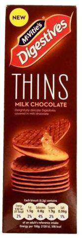 McVities, Digestives Thins Milk Chocolate, herbatniki zbożowe z Wielkiej Brytanii, kruche ciastka z mleczną czekoladą, copyright Olga Kublik