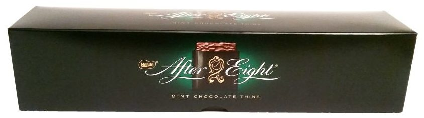 Nestle, After Eight Mint Chocolate Thins, miętowe płatki w ciemnej czekoladzie, copyright Olga Kublik