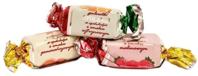Odra, Opolanki - galaretki o smaku owocowym: malinowym, cytrynowym i pomarańczowym, w ciemnej czekoladzie, copyright Olga Kublik