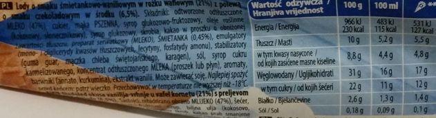 Algida, rożek lodowy waniliowy Big Milk Vanilla, skład i wartości odżywcze, copyright Olga Kublik