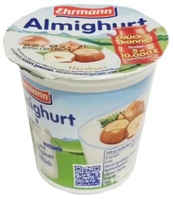 Ehrmann, Almighurt Haselnuss, jogurt orzechowy, deser o smaku orzechów laskowych, copyright Olga Kublik
