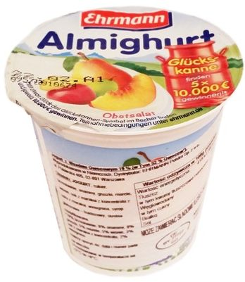 Ehrmann, Almighurt Obstsalat, jogurt wieloowocowy, copyright Olga Kublik