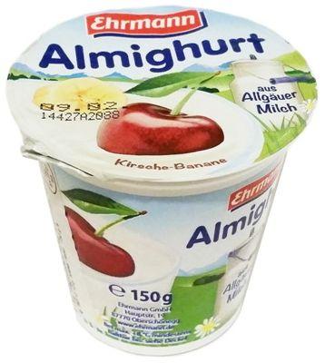 Ehrmann, Almighurt aus Allgauer Milch Kirsche-Banane, jogurt wiśnia banan, copyright Olga Kublik