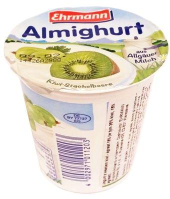 Ehrmann, Almighurt aus Allgauer Milch Kiwi-Stachelbeere, jogurt kiwi agrest, copyright Olga Kublik