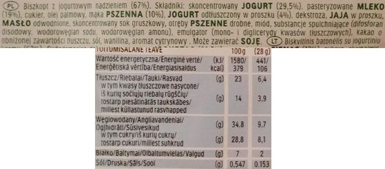 Ferrero, Kinder jogurtowa kanapka Yogurt slice, mleczna kanapka z jogurtem i cytryną, skład i wartości odżywcze, copyright Olga Kublik
