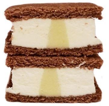 Muller, Mullermilch Snack Kokos Pistacja, mleczna kanapka marki Muller z kokosowo-pistacjowym nadzieniem, copyright Olga Kublik