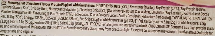 My Protein, Skinny Flapjack Chocolate Flavour, niskokaloryczny wegański baton owsiany z czekoladą, skład i wartości odżywcze, copyright Olga Kublik