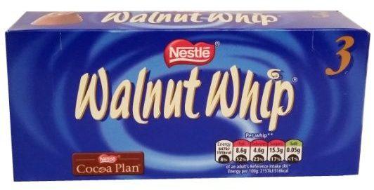 Nestle, Walnut Whip, mleczna czekolada z pianką typu marshmallow i orzechami włoskimi, copyright Olga Kublik