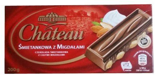 Chateau, Śmietankowa z Migdałami, mleczna czekolada z bakaliami z Aldiego, copyright Olga Kublik