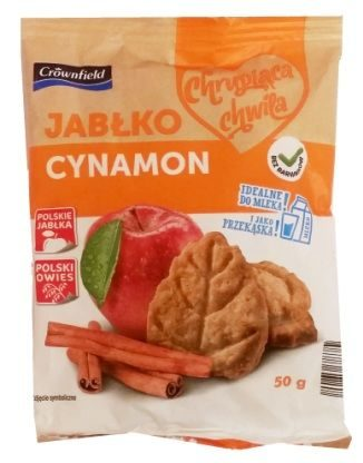 Crownfield, Chrupiąca chwila jabłko cynamon, zbożowe herbatniki z Lidla, zdrowe owsiane ciastka, copyright Olga Kublik