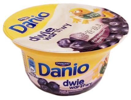 Danone, Danio dwie warstwy serek homogenizowany smak śmietankowy i jagody, copyright Olga Kublik
