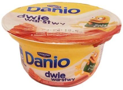 Danone, Danio dwie warstwy serek homogenizowany smak śmietankowy z sosem karmelowym, copyright Olga Kublik