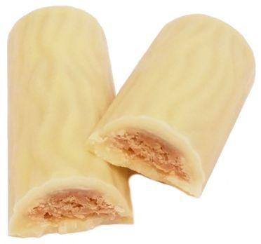Ferrero, Duplo White, kruchy batonik z waflem i kremem orzechowo-czekoladowym skryty pod białą czekoladą, copyright Olga Kublik