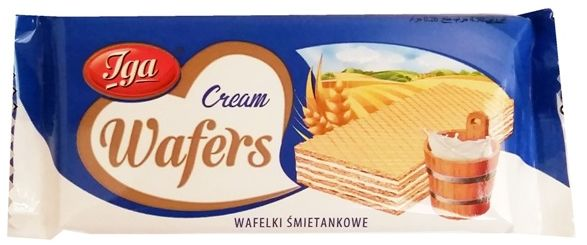Iga, Cream Wafers wafelki śmietankowe, copyright Olga Kublik