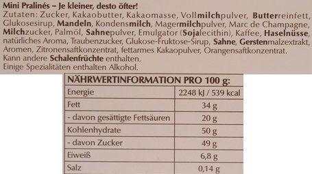 Lindt, Mini Pralines, bombonierka, zestaw małych czekoladek, 9 pralinek, skład i wartości odżywcze, copyright Olga Kublik