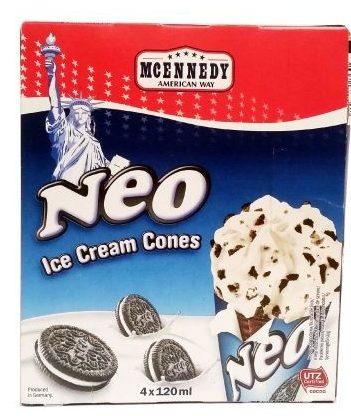 McEnnedy, Neo Ice Cream Cones, rożki lodowe z Lidla, podróbka Oreo, deser lodowy cookies & cream, tydzień amerykański w Lidlu, copyright Olga Kublik