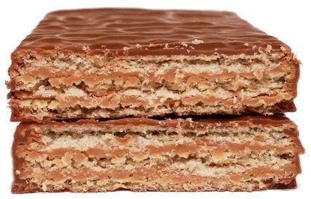 Mieszko, Michaszki wafel mocno orzechowy, batonik w czekoladzie, copyright Olga Kublik