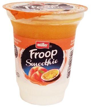 Muller, Froop Smoothie brzoskwinia marakuja, gęsty jogurt naturalny z owocową pianką o smaku brzoskwini i marakui, copyright Olga Kublik