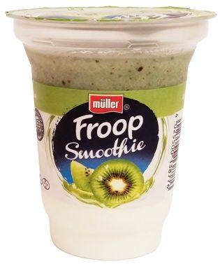 Muller, Froop Smoothie kiwi, gęsty jogurt naturalny z owocową pianką o smaku kiwi, copyright Olga Kublik
