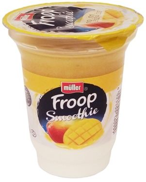 Muller, Froop Smoothie mango, gęsty jogurt naturalny z owocową pianką o smaku mango, copyright Olga Kublik