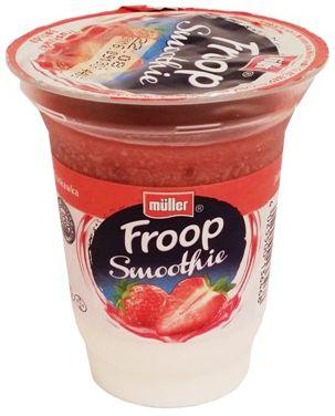 Muller, Froop Smoothie truskawka, gęsty jogurt naturalny z owocową pianką o smaku truskawki, copyright Olga Kublik