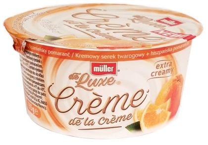 Muller, de Luxe Creme de la Creme Kremowy serek twarogowy hiszpańska pomarańcza, copyright Olga Kublik