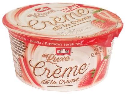 Muller, de Luxe Creme de la Creme Kremowy serek twarogowy truskawka, copyright Olga Kublik