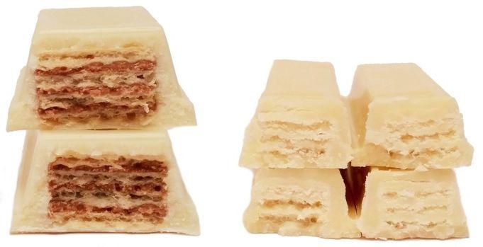 Nestle, Kit Kat White, Wedel, WW White, baton w białej czekoladzie, wafel z kremem kakaowym i wafel z kremem śmietankowym, copyright Olga Kublik