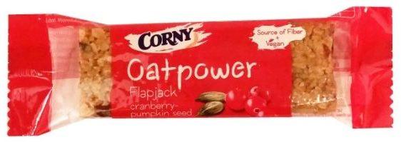 Schwartauer Werke, Corny Oatpower Flapjack cranberry - pumpkin seed, zdrowy baton owsiany z żurawiną i pestkami dyni, copyright Olga Kublik