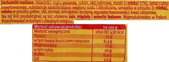 Bahlsen, Leibniz herbatniki maślane, kruche ciasteczka do kawy i herbaty, skład i wartości odżywcze, copyright Olga Kublik