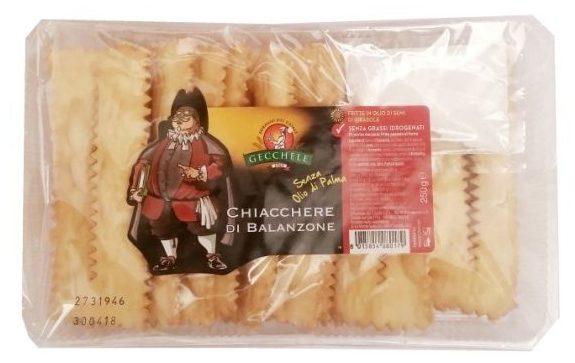 Fornaio del Casale Gecchele, Chiacchere di Balanzone, faworki z Włoch, włoski chrust z cukrem pudrem, copyright Olga Kublik