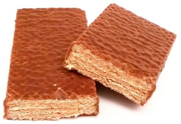 Goplana, Grześki w mlecznej czekoladzie, kruche batoniki dla dzieci, wafle z kremem kakaowym w polewie czekoladowej, copyright Olga Kublik
