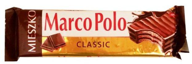 Mieszko, Marco Polo Classic, wafel przekładany kremem kakaowym i oblany czekoladą deserową, polskie słodycze, copyright Olga Kublik