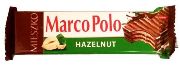 Mieszko, Marco Polo Hazelnut, kruchy wafel z kremem orzechowym oblany mleczną czekoladą, polskie słodycze, copyright Olga Kublik