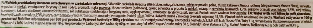 Mieszko, Marco Polo Hazelnut, kruchy wafel z kremem orzechowym oblany mleczną czekoladą, polskie słodycze, skład i wartości odżywcze, copyright Olga Kublik