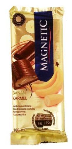 Millano-Baron, Magnetic Banan Karmel, mleczna czekolada z nadzieniem bananowo-karmelowym, copyright Olga Kublik