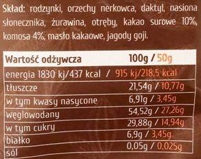Purella Food, Enjoy Pure Cubes Superfood Snacks surowe kakao, surowe praliny, wegańskie słodycze bez glutenu, kakaowe zdrowe łakocie, skład i wartości odżywcze, copyright Olga Kublik
